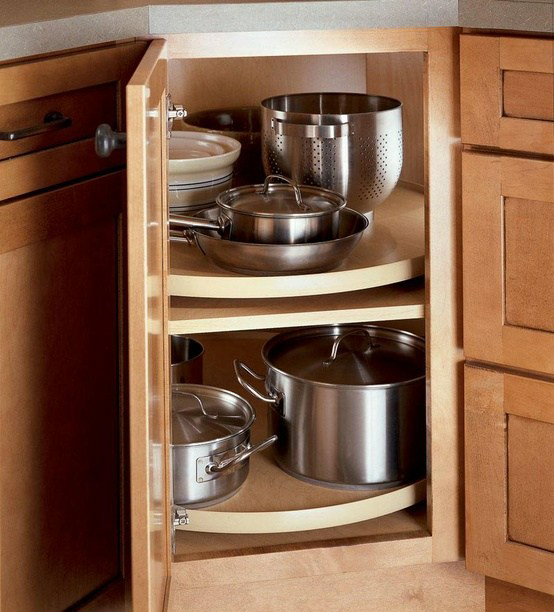 Kitchen Cabinet Alternatives: How To Remove The Lazy Susan Corner Cabinet Shelf In 6